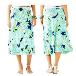 Lilly Pulitzer Shia Skirt Uptown Trunk Large